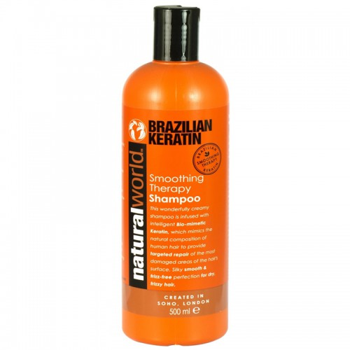 Kosmetika a zdraví - Natural World Brazil keratin šampon, 500 ml