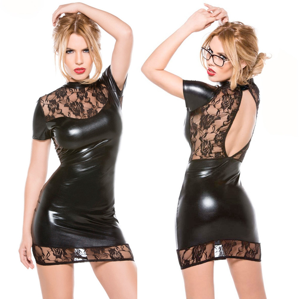 V&V Dámské párty mini šaty s krajkou