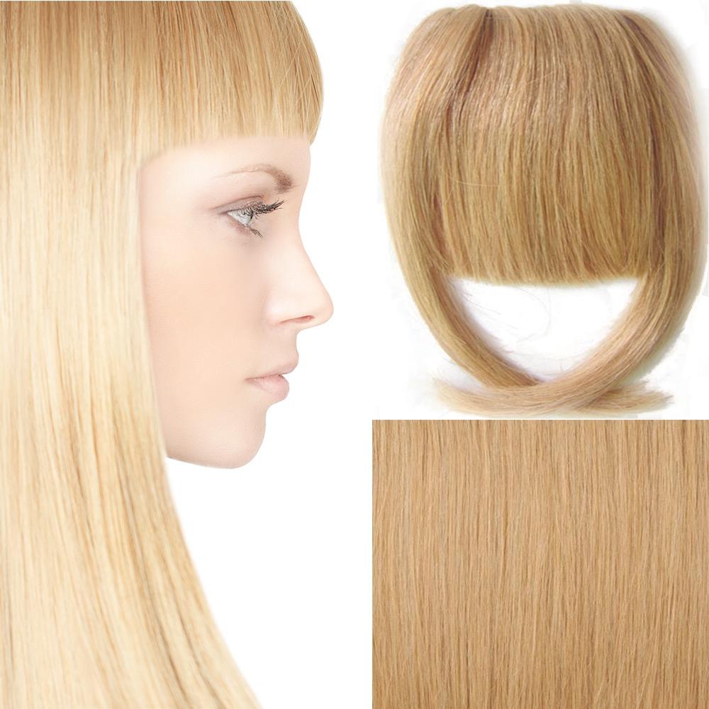 Světové Zboží Clip in ofina – REMY 100% lidské vlasy – 27 - karamelová - 27 (karamelová)