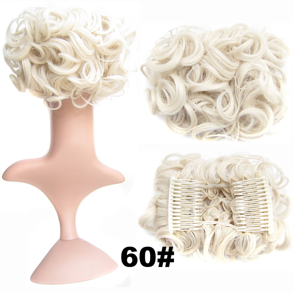 Romantický příčesek - drdol - 60 (ledová blond)