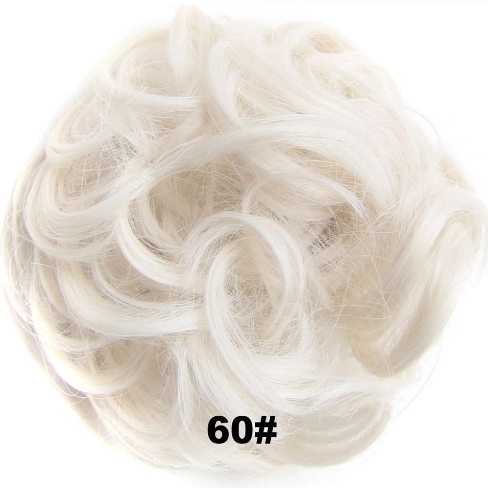 Příčesek - drdol na gumičce - 60 (ledová blond)
