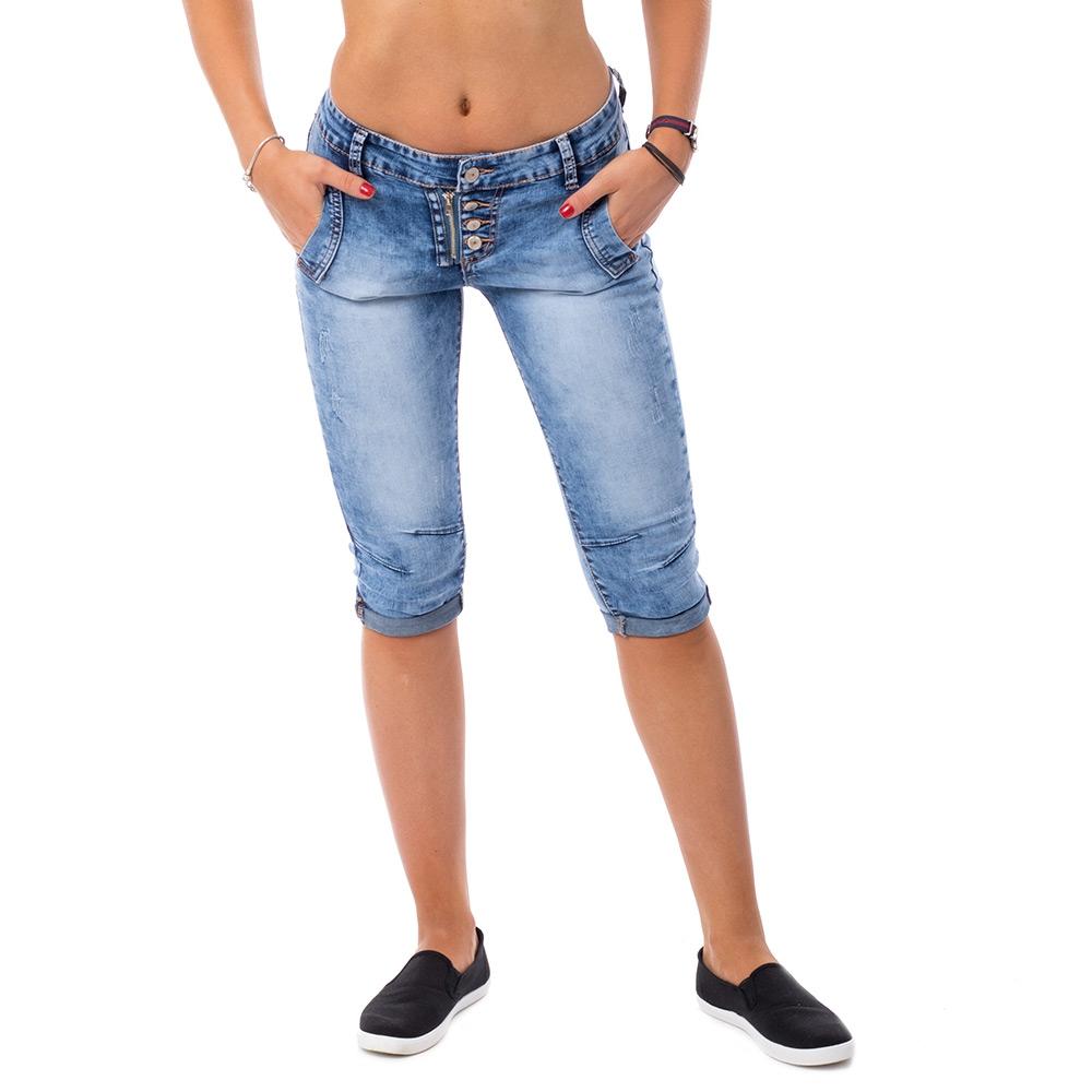 V&V Dámské třičtvrteční jeans - 26