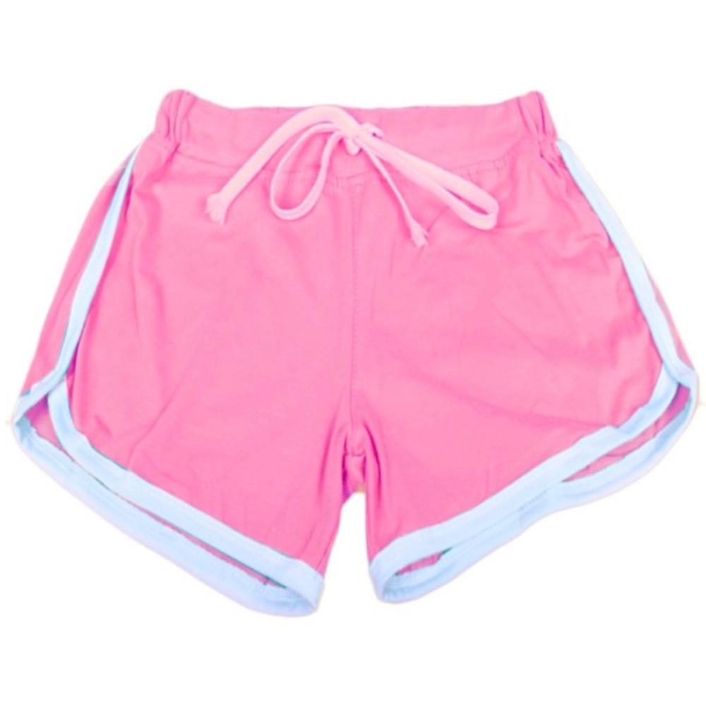 ... Dámská móda a doplňky - Dámské sportovní kraťasy Fitness - růžové 3696359d63
