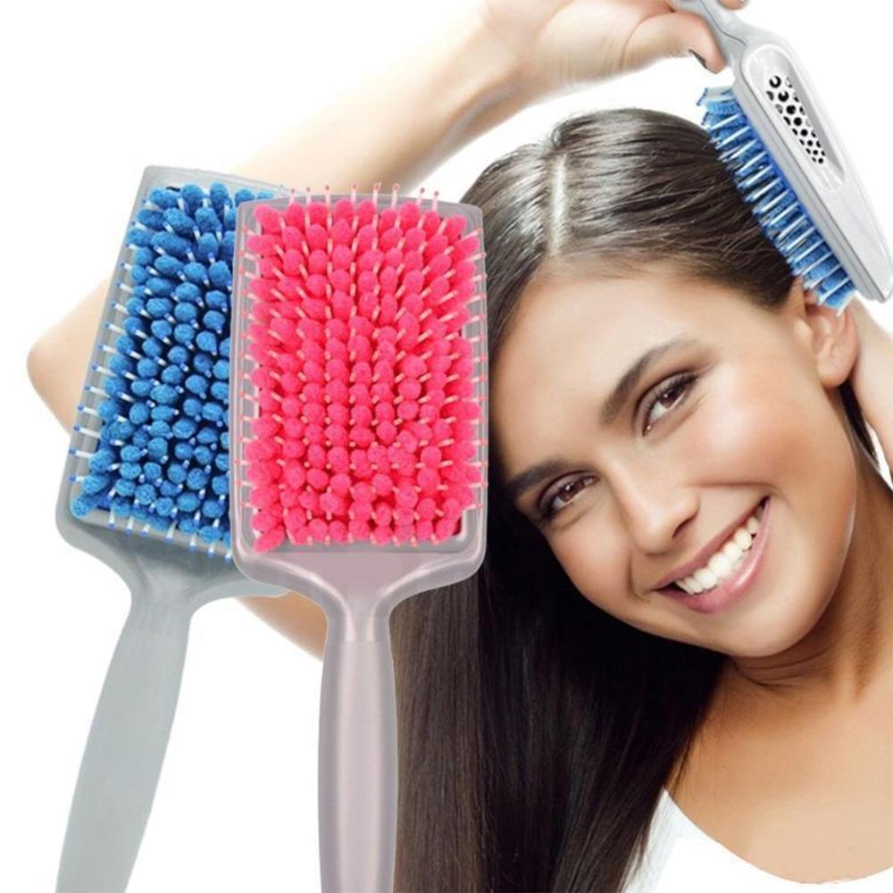 V&V Vysoušecí a uhlazující kartáč na mokré vlasy - modrá barva