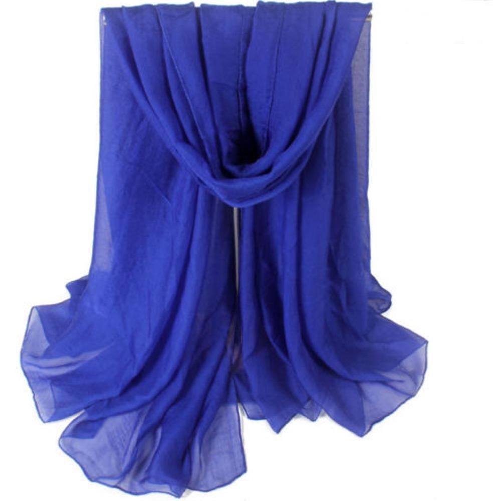 V&V Velký šátek na pláž - modrá barva