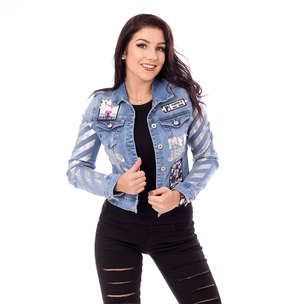 V&V Dámská jeans bunda Paris - L