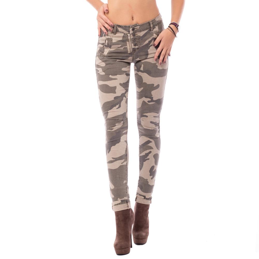 V&V Dámské jeans kalhoty ARMY - M