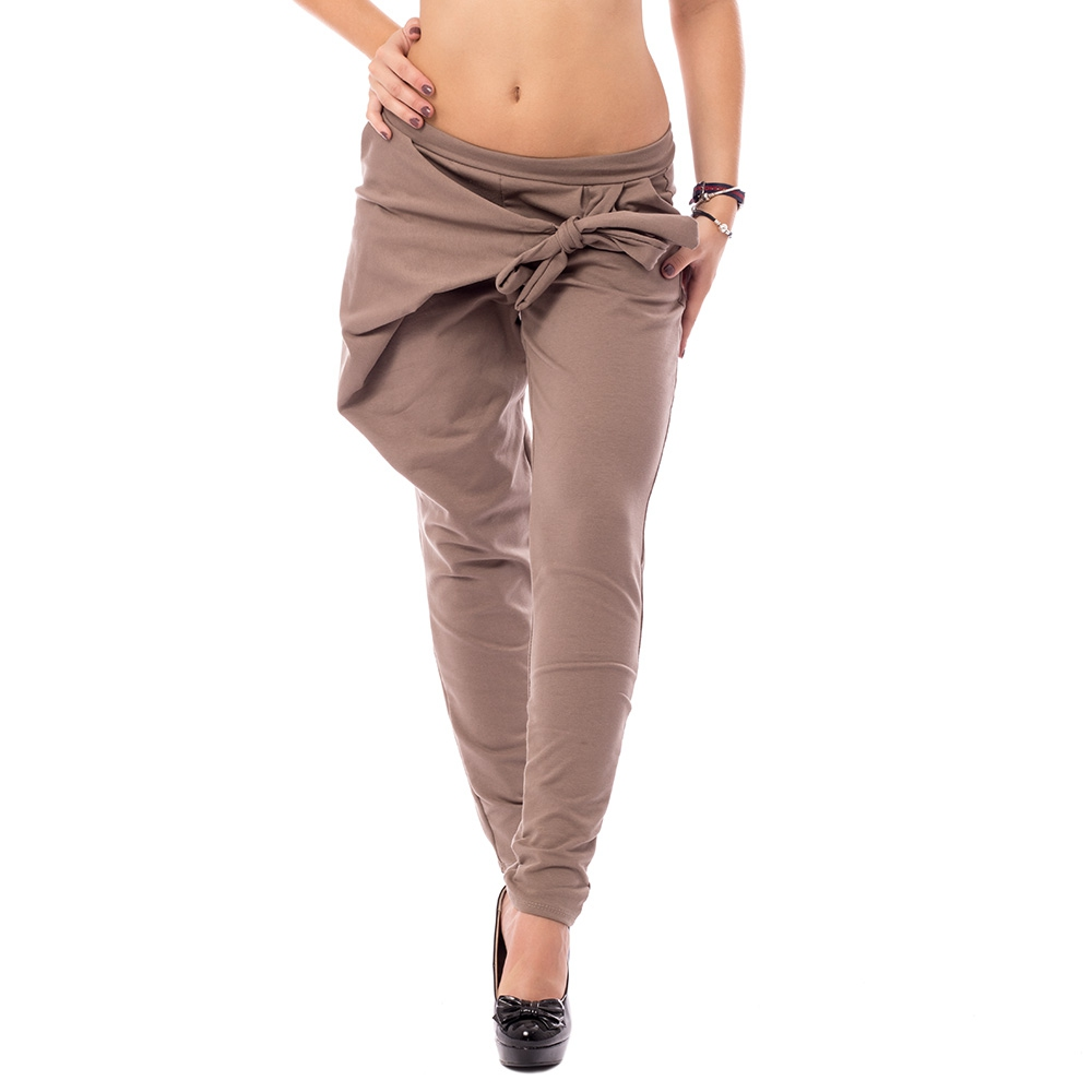V&V Harémové kalhoty s překladem - hnědé