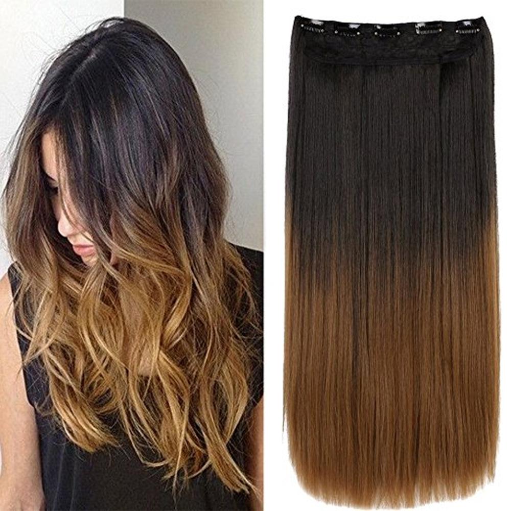 Clip in vlasy - 60 cm dlouhý pás vlasů - ombre styl - odstín 2 T 27