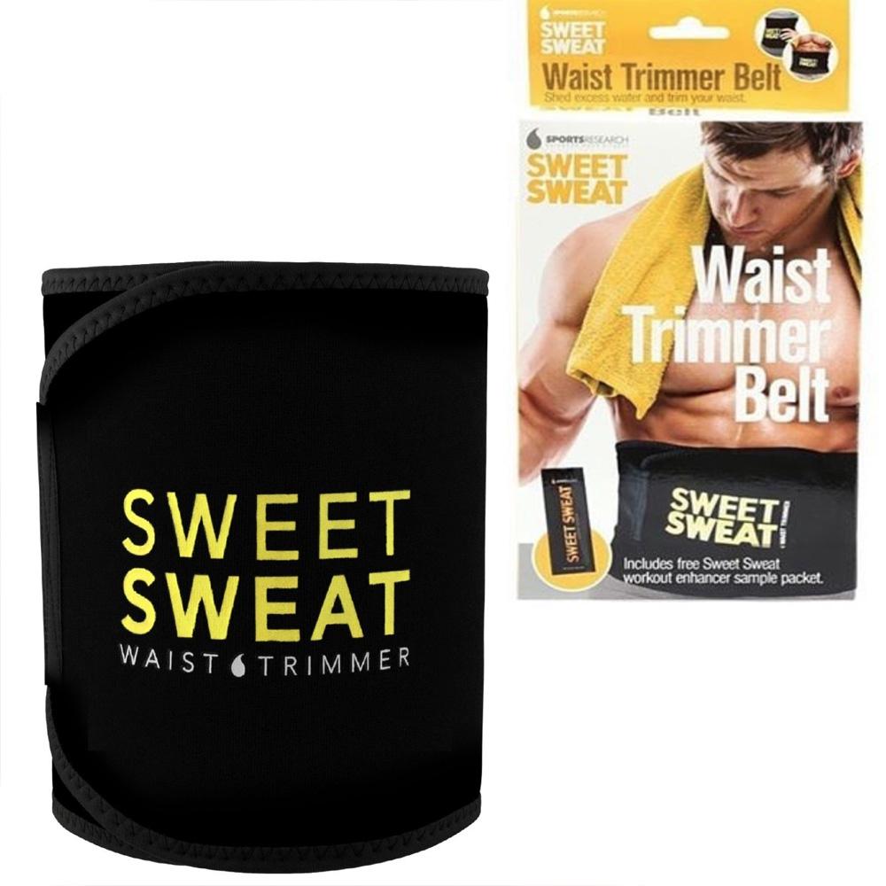 V&V Neoprenový pás na hubnutí Sweet Sweat, černý - žlutý