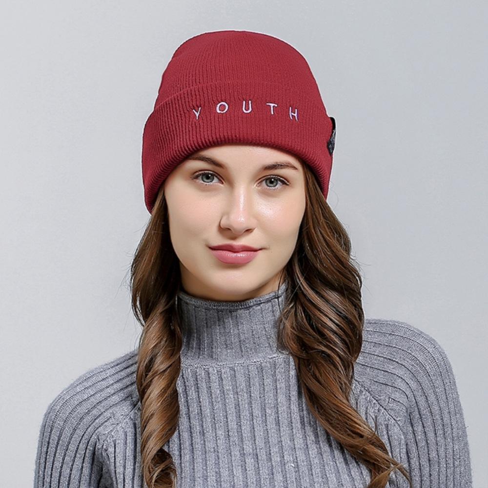 V&V Zimní čepice KLV YOUTH - červená barva