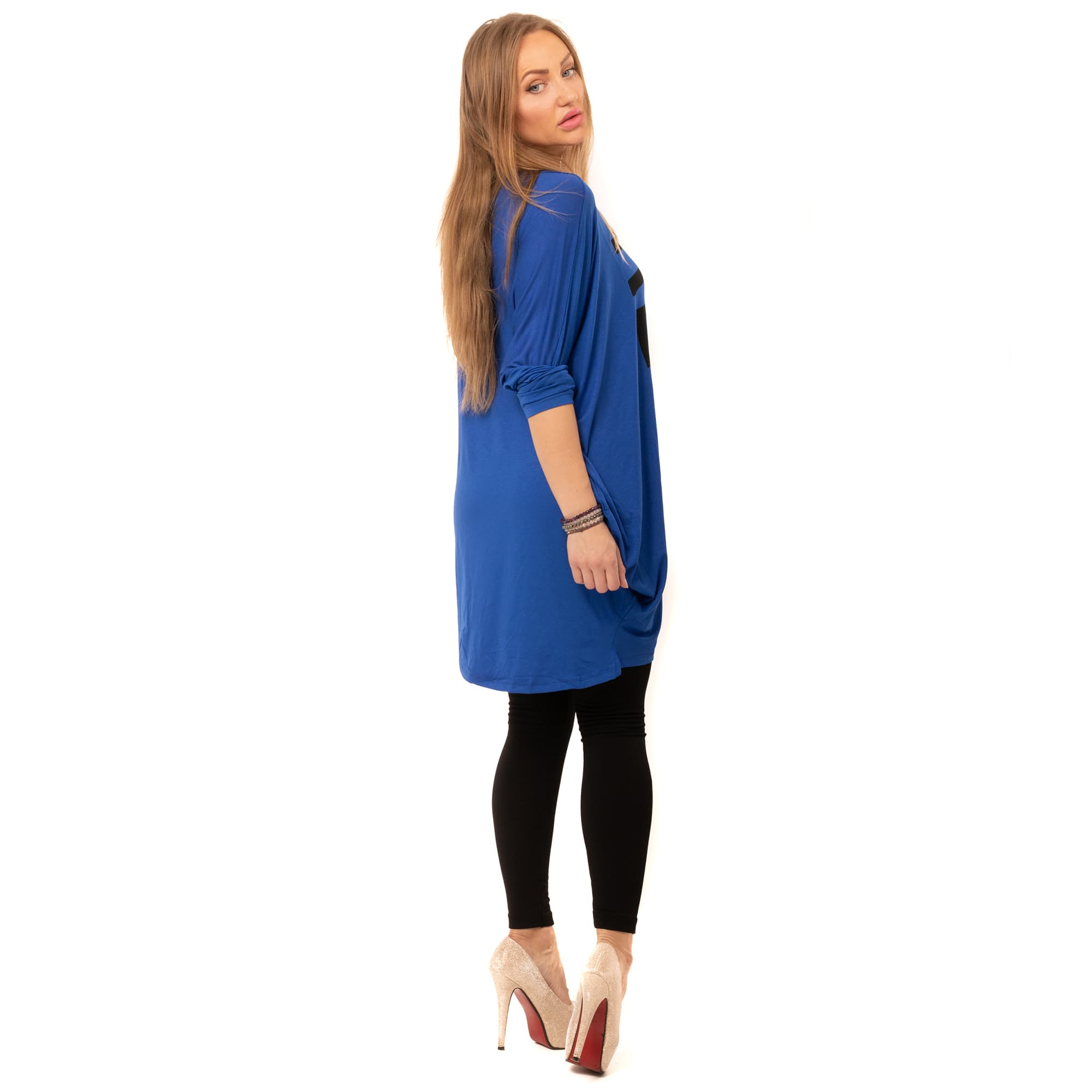 14de36aa3c8 ... Dámská móda a doplňky - Tunika Relax - modrá ...