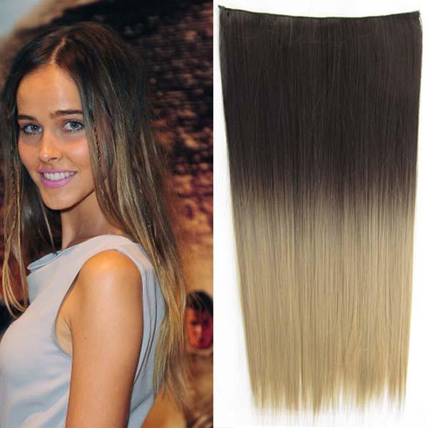 Clip in vlasy - 60 cm dlouhý pás vlasů - ombre styl - odstín 2 T 24