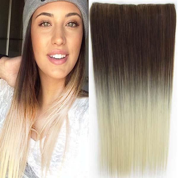 Clip in vlasy - 60 cm dlouhý pás vlasů - ombre styl - odstín 10 T 613