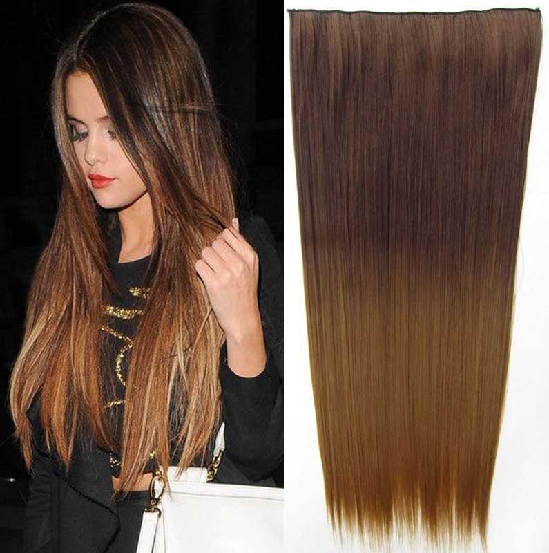 Světové zboží Clip in vlasy - rovný pás - ombre - odstín 8 T 27 - odstín 8 T 27