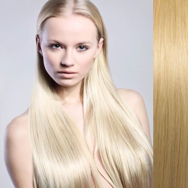 Clip in vlasy 100% lidské – Remy 105 g - pás vlasů - odstín 613 - blond