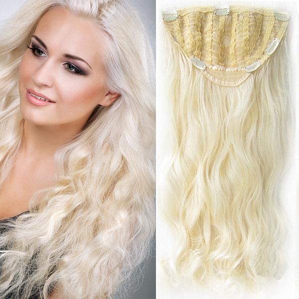 Clip in Jessica 60 cm vlnitý pás - 613 - blond
