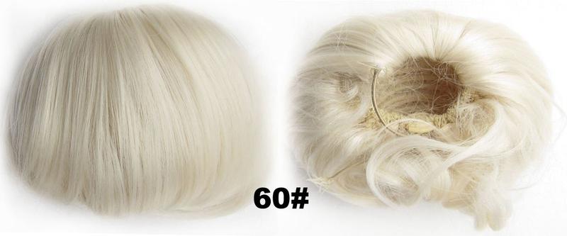 Příčesek - drdol á la Audrey Hepburn - 60 (ledová blond)