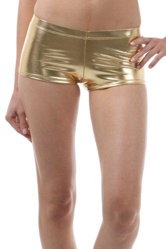 ... Dámská móda a doplňky - Dámské elastické šortky - metalic - gold ... a956fa8954