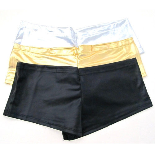 aef26aad33b ... Dámská móda a doplňky - Dámské elastické šortky - metalic - gold ...