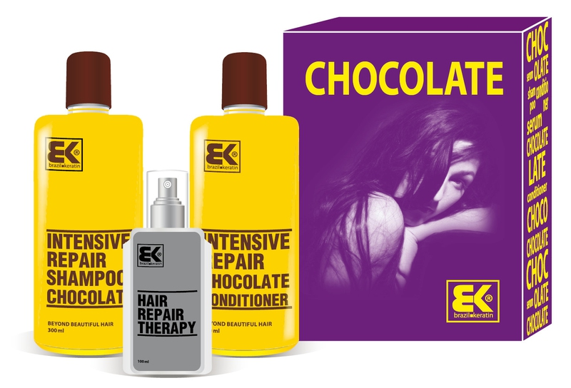 BK Brazil Keratin Chocolate šampon 300 ml kondicionér 300 ml olej / sérum 100 ml dárková sada