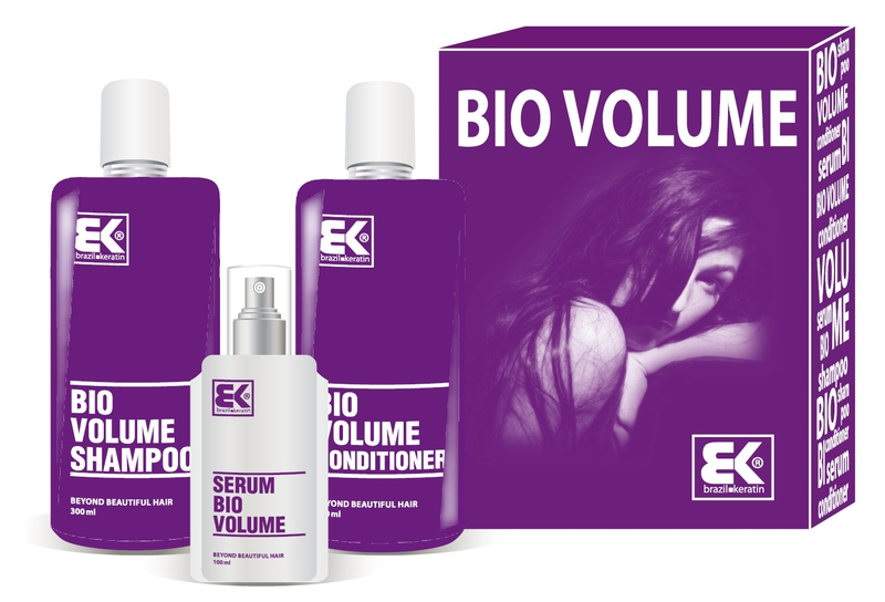 Brazil Keratin Bio Volume šampon 300 ml + kondicionér 300 ml + olej / sérum 100 ml dárková sada