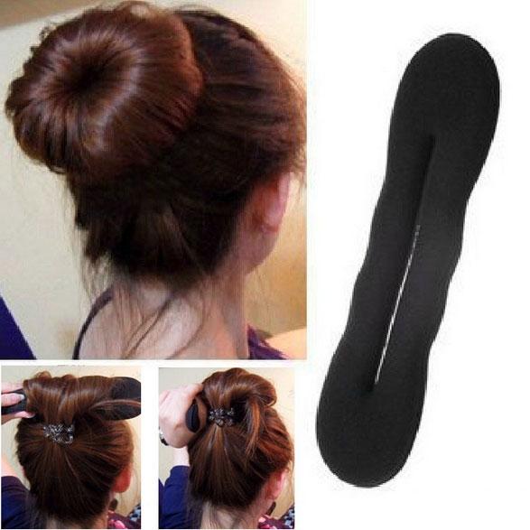 Prodlužování vlasů a účesy - Magický drdol - spona - délka 22 9c3b0f9c03f