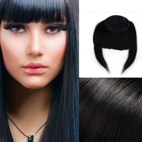 Clip in ofina – REMY 100% lidské vlasy - 1# (uhlově černá)