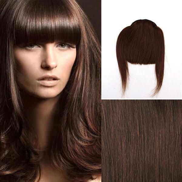 Clip in ofina – REMY 100% lidské vlasy – 4 - středně hnědá