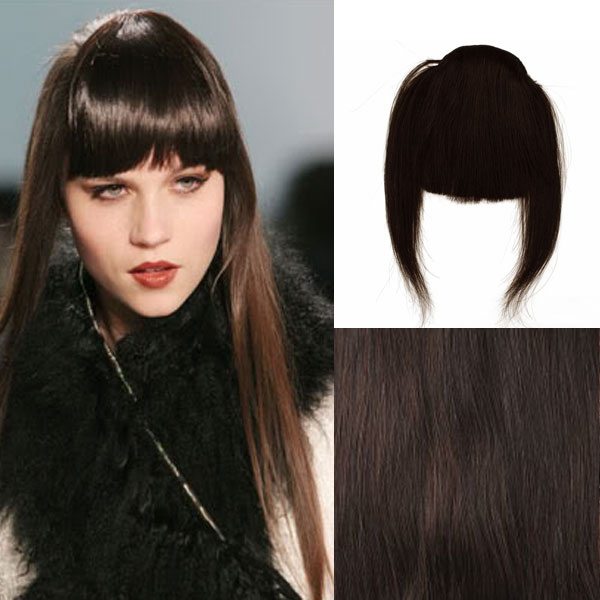 Clip in ofina – REMY 100% lidské vlasy - 2 (tmavě hnědá pralinka)