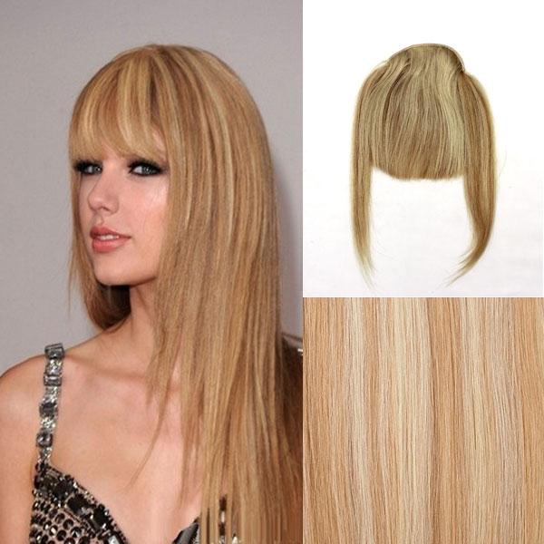 Světové Zboží Clip in ofina – REMY 100% lidské vlasy – 27/613 - blond - odstín 27/613