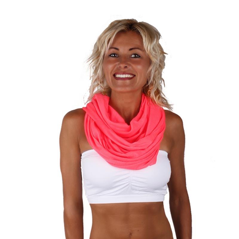 Šátek - šál - tunel neonové barvy - reflexní růžová