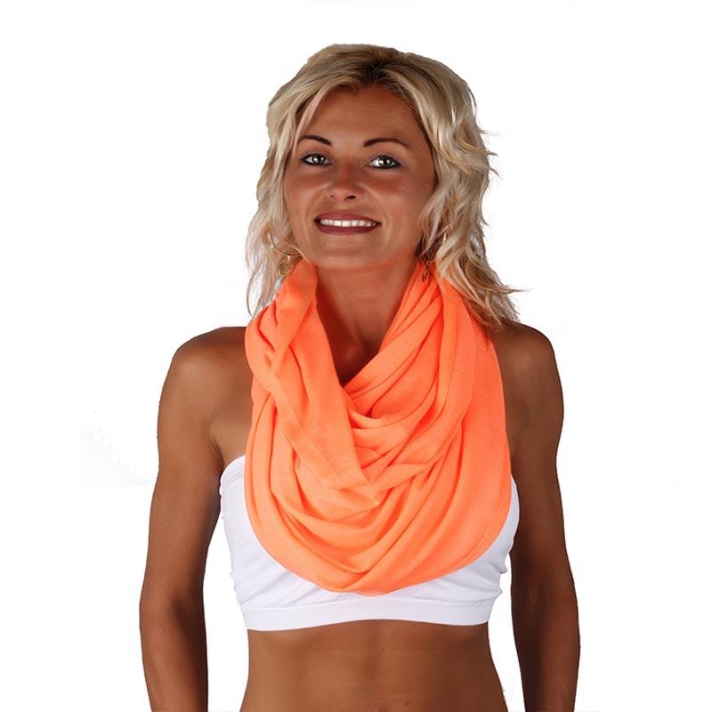 Šátek - šál - tunel neonové barvy - reflexní oranžová