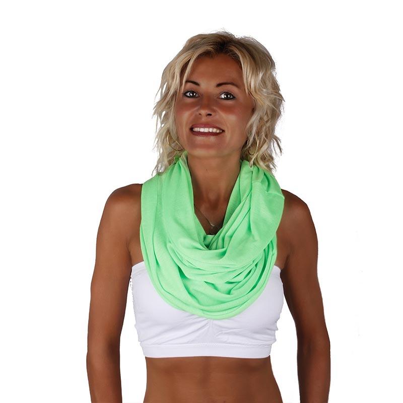 Šátek - šál - tunel neonové barvy - reflexní zelená