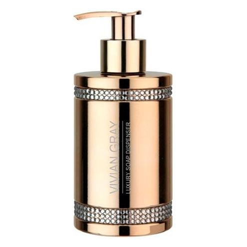 V&V Tekuté mýdlo s dávkovačem VIVIAN GRAY CRYSTALS Soap gel 250ml GOLD