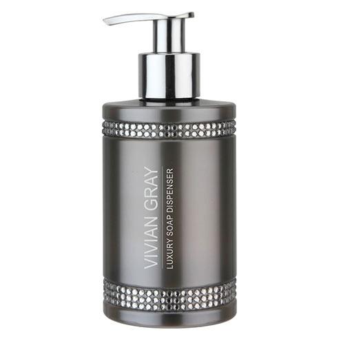 Tekuté mýdlo s dávkovačem VIVIAN GRAY CRYSTALS Soap gel 250ml GREY