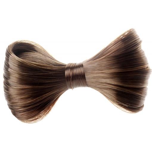V&V Elegantní spona do vlasů s vlasovou mašlí - 6 (hnědá)