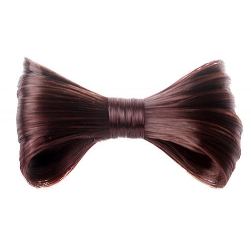 Elegantní spona do vlasů s vlasovou mašlí - fialová