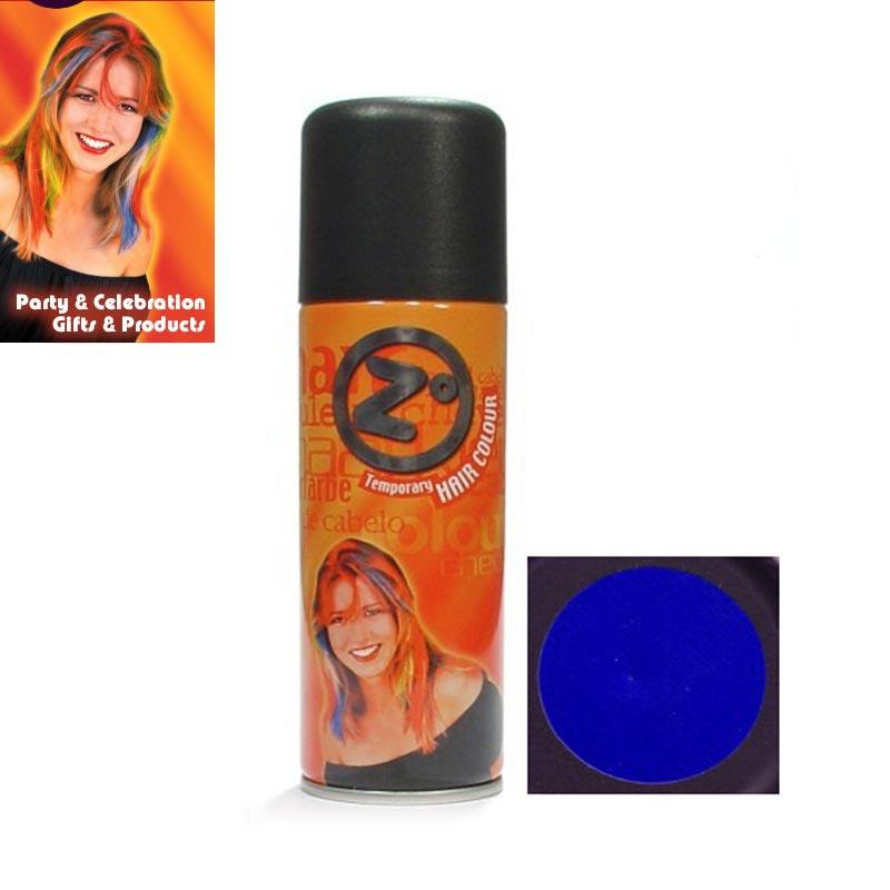 V&V Barevný lak na vlasy - modrý - modrá barva