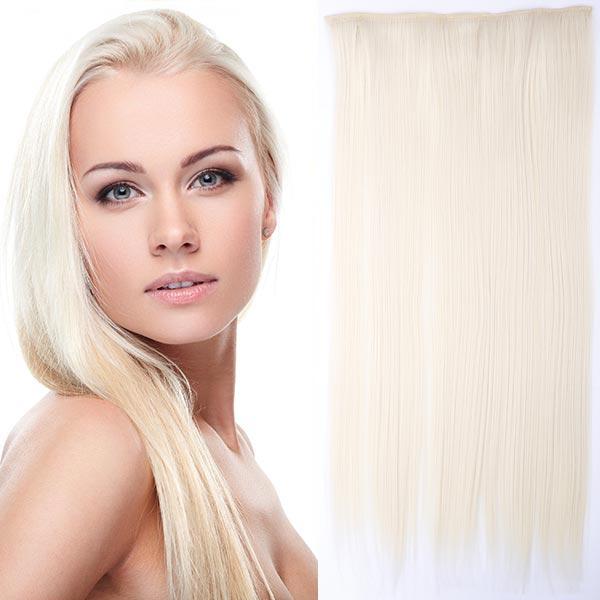 Clip in vlasy - 60 cm dlouhý pás vlasů - odstín - F60/613 (melír ledové blond v beach blond)