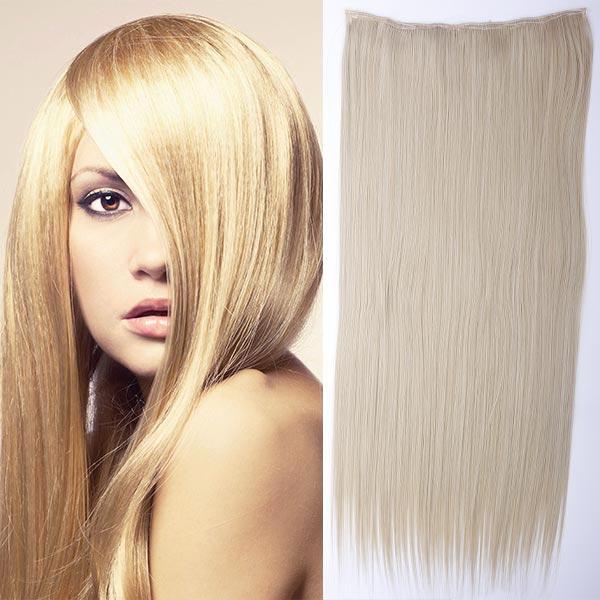Clip in vlasy - 60 cm dlouhý pás vlasů - odstín - M24/613 (mix platinově plavá/beach blond)