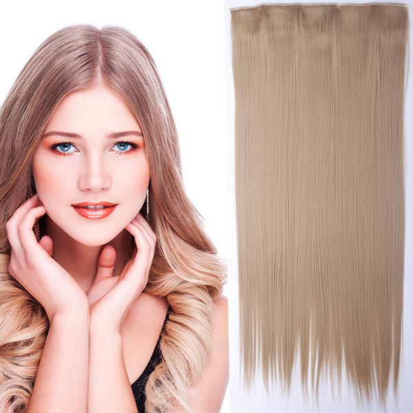 Clip in vlasy - 60 cm dlouhý pás vlasů - odstín - 18 (středně plavá)