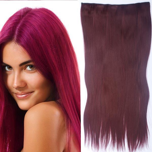 Clip in vlasy - 60 cm dlouhý pás vlasů - odstín - 99J (burgundské víno)