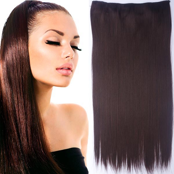 Clip in vlasy - 60 cm dlouhý pás vlasů - odstín 4/33 - hnědý mix