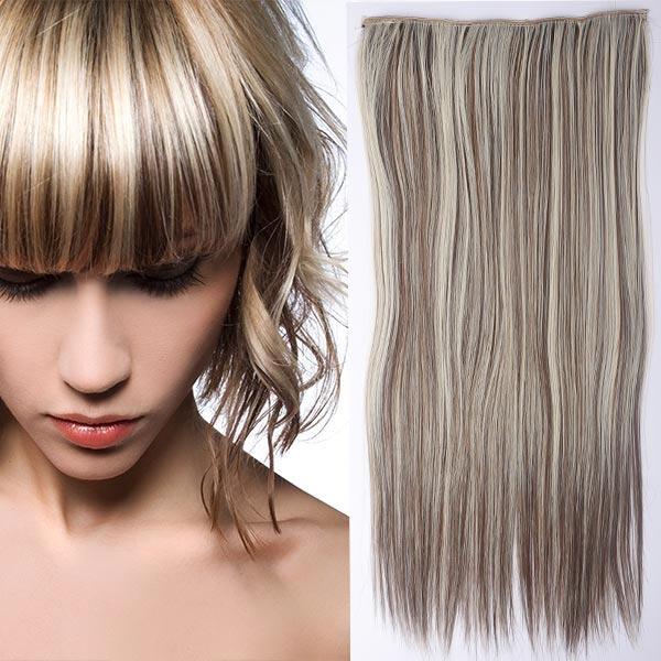 Clip in vlasy - 60 cm dlouhý pás vlasů - odstín 8/613 - melír