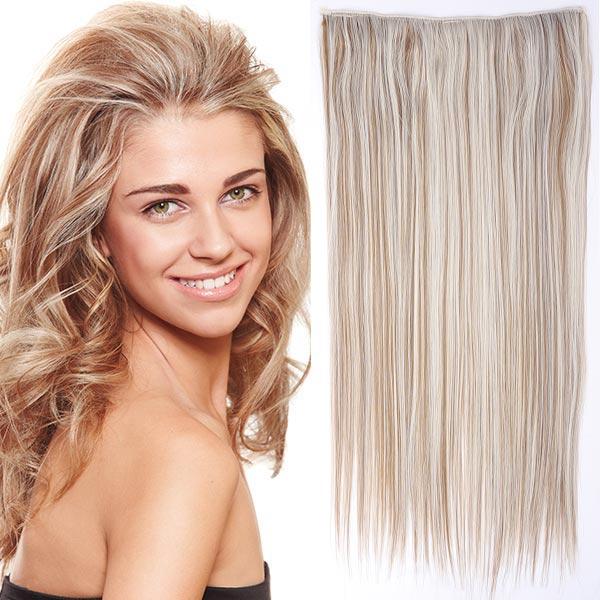 Clip in vlasy - 60 cm dlouhý pás vlasů - odstín - F27/60 (melír karamelové v ledové blond)