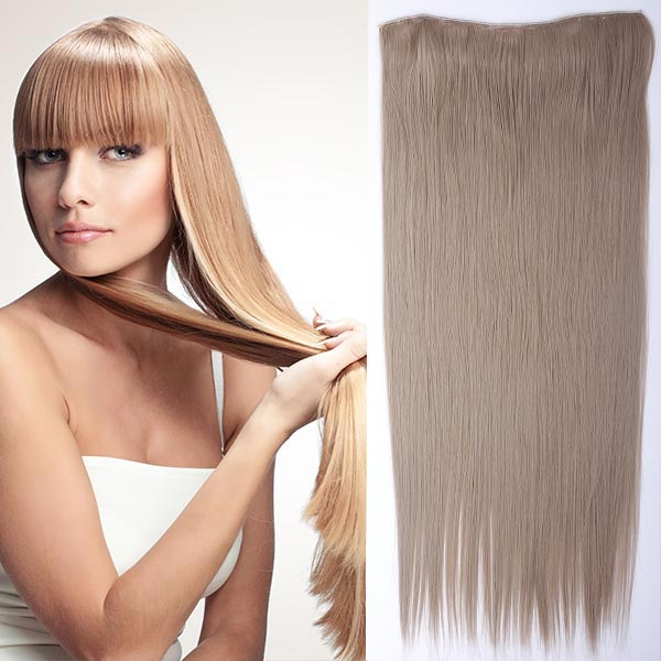 Clip in vlasy - 60 cm dlouhý pás vlasů - 16 - popelavá tmavá blond
