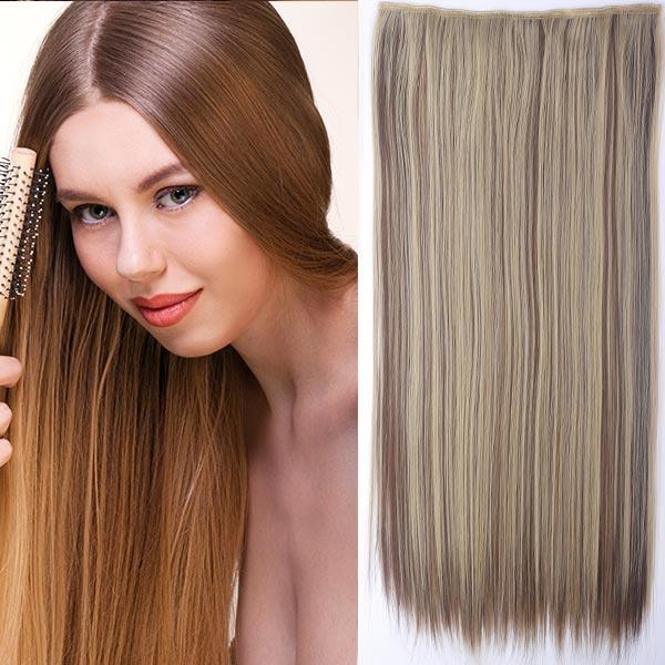 Clip in vlasy - 60 cm dlouhý pás vlasů - odstín 22/10 melír - F22/10 (melír světle plavé v medově hnědé)