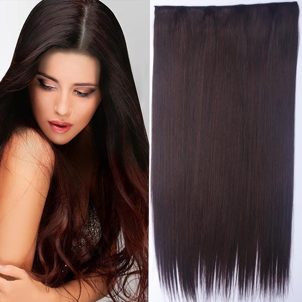 Clip in vlasy - 60 cm dlouhý pás vlasů - odstín 2/33 - hnědá - M2/33 (mix tmavá pralinka/tmavý kaštan)