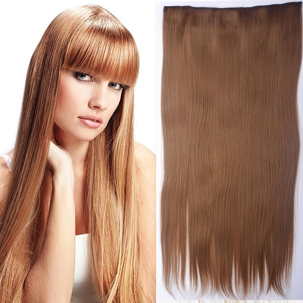 Clip in vlasy - 60 cm dlouhý pás vlasů - odstín - 27 (karamelová)